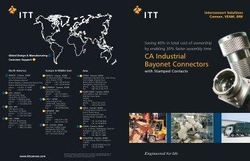 CA Industrial Bayonet Connectors