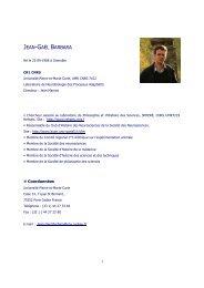 Curriculum Vitae - Bibliothèque interuniversitaire de médecine