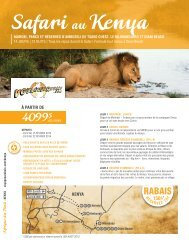 Safari Kenya - Voyages à rabais
