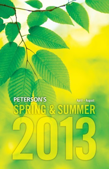 Spring – Summer 2013 - Publishing