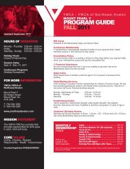 Mount Pearl Y Programs - the YMCA of Northeast Avalon