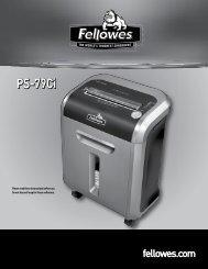 PS-79Ci Manual-2010 - Fellowes
