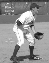 2005 Rhode Island College Baseball - Rhode Island College Athletics