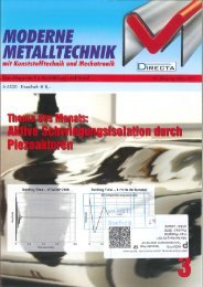 Mankenberg in der Moderne Metalltechnik