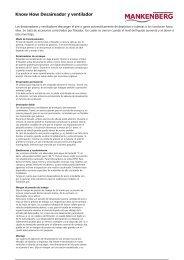Know How Desaireador y ventilador - Mankenberg