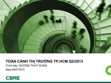 TOÀN CẢNH THỊ TRƯỜNG TP.HCM Q2/2013 - CBRE