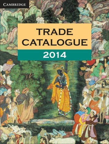 Trade Catalogue - Cambridge University Press India