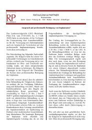 Newsletter 04/2010 - Ratajczak & Partner Rechtsanwälte