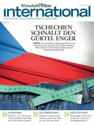 TSCHECHIEN SCHNALLT DEN GÜRTEL ENGER - wirtschaftsblatt.at
