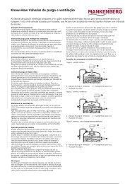 Know-How Válvulas de purga e ventilação - Mankenberg