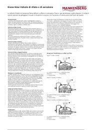 Know How Valvole di sfiato e di aerazione - Mankenberg