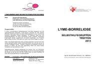 Flyer Selbsthilfe Treffen 2013 - Liga für Zeckenkranke Schweiz