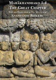 Mahākhandhako The Great Chapter - Ancient Buddhist Texts