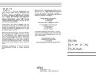 Bruin Readmission Program - UCLA