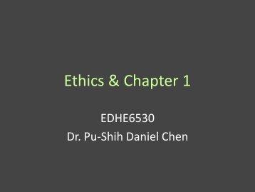 Ethics & Chapter 1