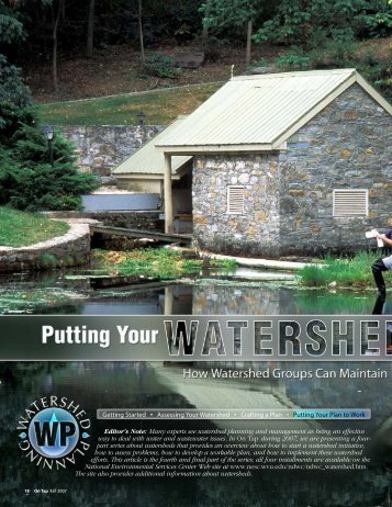 Putting Your Watershed Plan to Work: How Watershed Groups Can ...