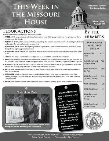 March 23, 2009 - Missouri House of Representatives