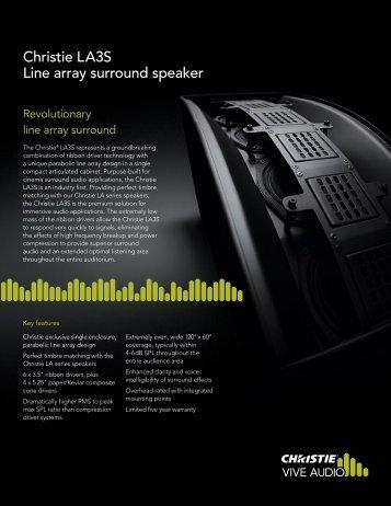 LA3S Datasheet - Christie Digital Systems