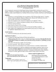 MacDougal Scholarship for UCLA Undergraduates - Division of ...