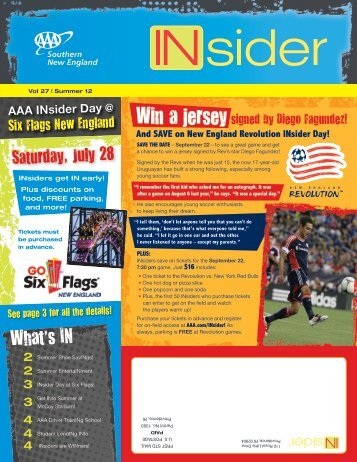 Vol 27 | Summer 12 Six Flags New England Win a jersey signed by