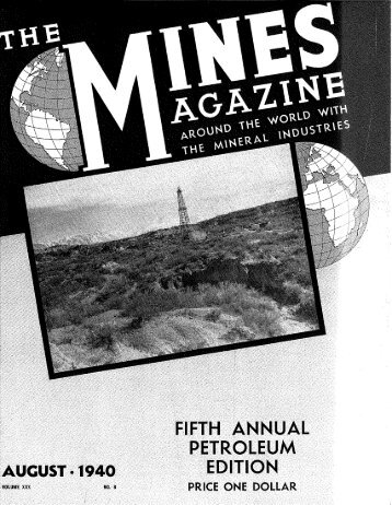 fifth annual petroleum august. 1940 edition - Mines Magazine