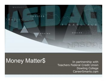 Money Matter$ - CareerSmarts