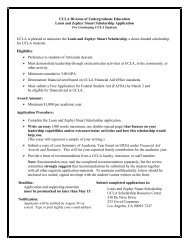 Louis and Zephyr Stuart Scholarship - Division of Undergraduate ...