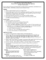 Bernard Osher Foundation Reentry Scholarship - Division of ...