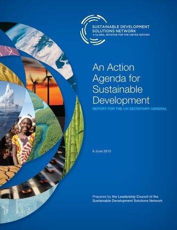 "Read the Report: ""An Action Agenda For Sustainable Development"""