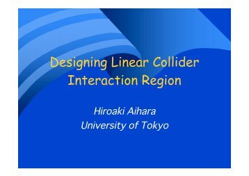 Designing Linear Collider Interaction Region