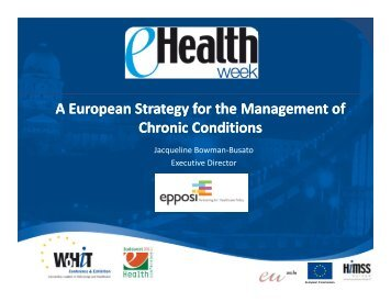 A European Strategy for the Management of Chronic Conditions