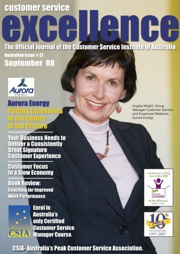 Issue 37 - Customer Service Institute of Australia