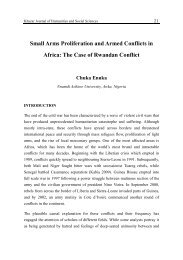 light weapons and armed conflicts in africa - Khazar Journal of ...