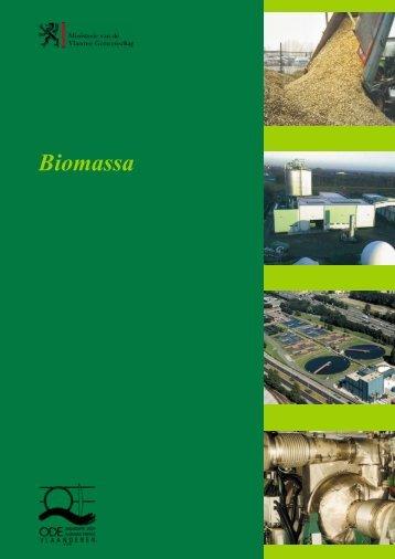 """ODE-Vlaanderen : Brochure """"Biomassa"""" - Sabvba"""
