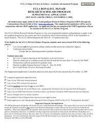 UCLA RONALD E. McNAIR RESEARCH SCHOLARS PROGRAM