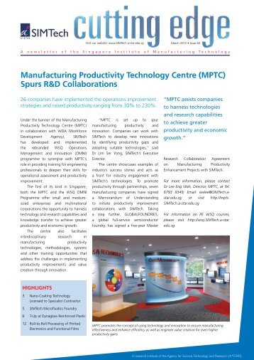Cutting Edge Newsletter - Singapore Institute of Manufacturing ...
