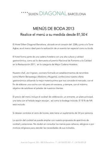 Carta Menús Bodas (pdf) - Hoteles Silken