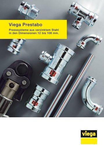 Prospekt Viega Prestabo: Presssysteme aus verzinktem Stahl in den ...