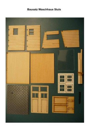 Bausatz Waschhaus Stuls - rk scale models
