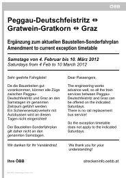Peggau-Deutschfeistritz  Gratwein-Gratkorn  Graz - ÖBB