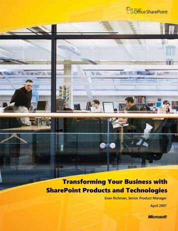 Transforming Your Business with SharePoint Products ... - Gig Werks