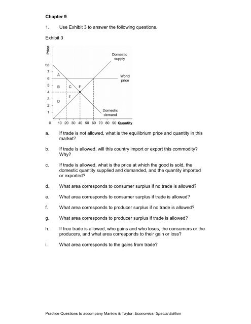 Chapter 9 1 Use Exhibit 3 To Answer The Following Questions