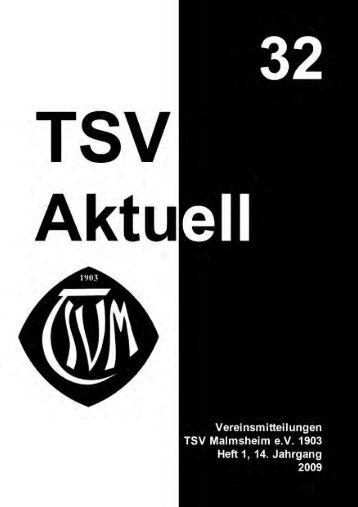 TSV Aktuell Nr. 32 - TSV Malmsheim