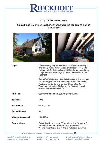 Gemütliche 3-Zimmer-Dachgeschosswohnung mit Südbalkon in ...