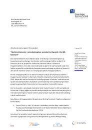 Afsluttende statusrapport fra CBS - Den Danske Maritime Fond