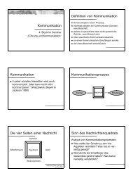 Kommunikation Definition von Kommunikation Kommunikation ...