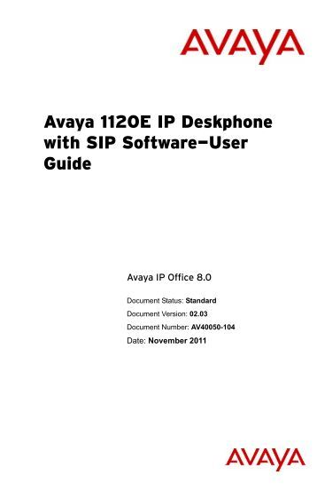 avaya ip office user manual