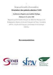 Orientation des patients atteints d'AVC - CHU Saint-Etienne