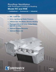 RV/RVE Rooftop Ventilator with Packaged Heating and - Greenheck