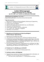 32. LAG-Sitzung am 10.11.2011 - bei Leader im Aller-Leine-Tal